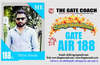 GATE 2016 Toppers AIR 188