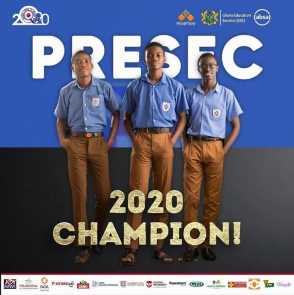 2020 NSMQ: President Akufo-Addo Applauds Presec After Victory; Invites Them To Jubilee House