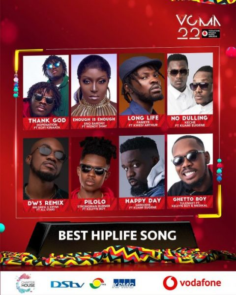 VGMA 22 - List Of Nominees Finally Release