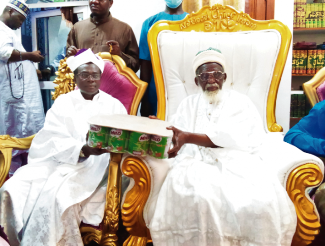"""You Are A Great Father,..."" Spiritual Churches Council Donates Food Items To Chief Imam"