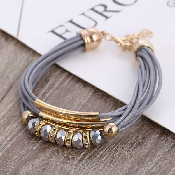 Leather Wrap Bracelet – Retro Leather Bracelet – Vintage Leather Bracelet – Trendy Leather Bangle Bracelet - Best Gifts Gallery