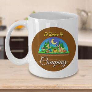 I'd Rather Be Camping Mug - Camping Mug - Camping Coffee Mug - Camper Mug