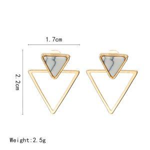 Triangle Earrings – Triangle Stud Earrings – Trendy Triangle Earrings - Dual Triangle Stud Earrings – Trendy Stud Earrings – Best Gifts Gallery