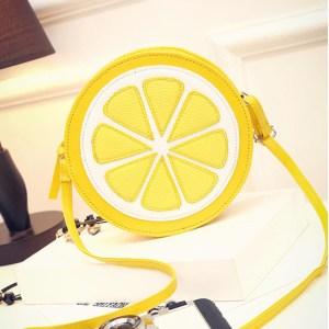 Cute Lemon Slice Purse – Crossbody Lemon Slice Handbag – Lemon Purse Shoulder Bag – Best Gifts Gallery