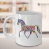 Rainbow Horse Mug - Horse Mug - Rainbow Horse Coffee Mug