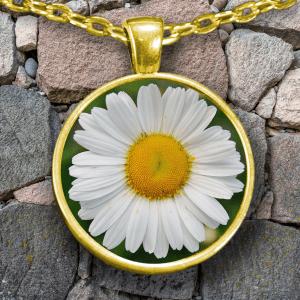 Daisy Necklace - Daisy Flower Necklace – Daisy Pendant - Daisy Flower Pendant