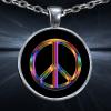Peace Sign Necklace – Peace Sign Pendant - Peace Sign Jewelry - Peace Necklace - Peace Pendant - Best Gifts Gallery
