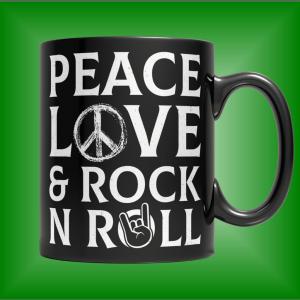 Peace Mug - Peace Mugs - Peace Sign Mug - Rock N Roll Mug - Rock and Roll Mug - Unique Mug - Best Gifts Gallery