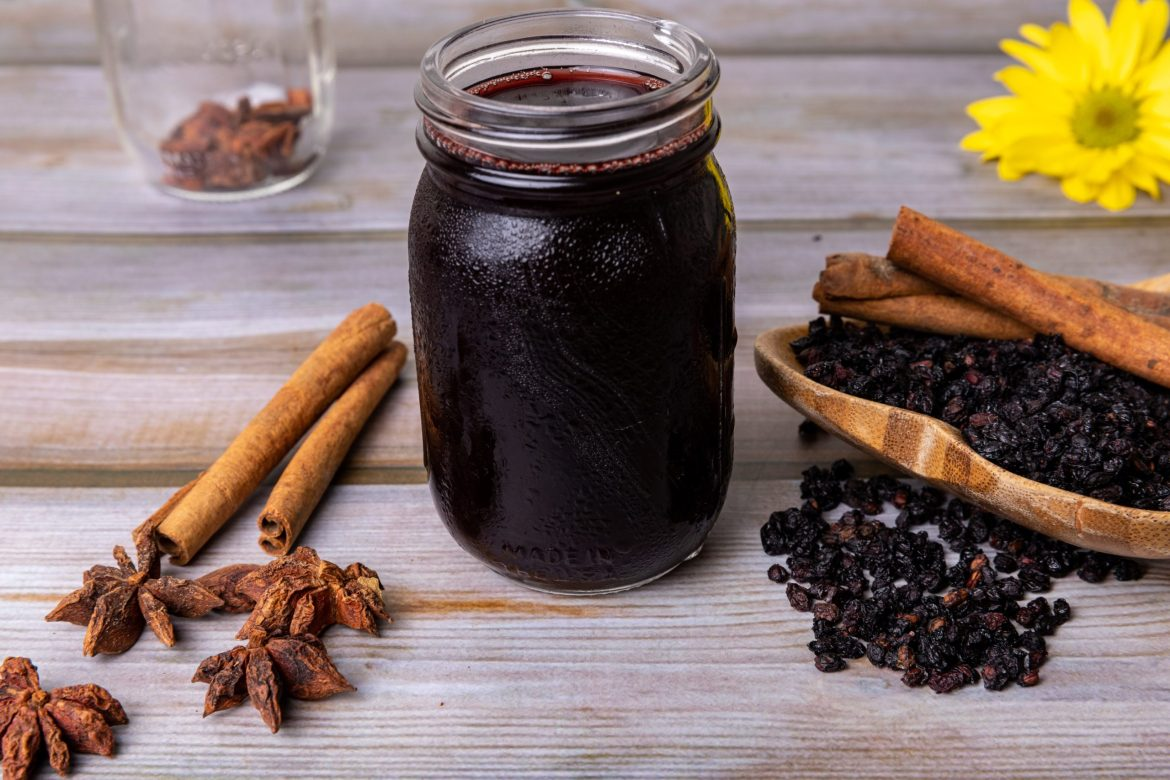 elderberry syrup with cinnamon new jar for all about elderberry page