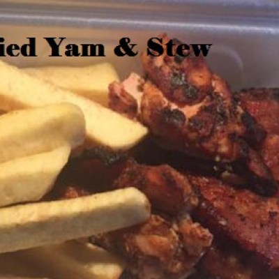 Fried Yam and stew