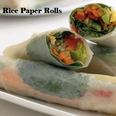 Rice paper spring rolls