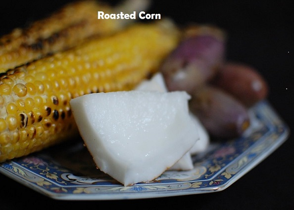 corn on charcoal grill