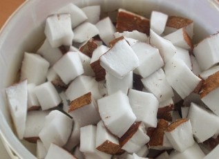 chopped coconut meat