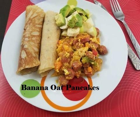 Banana oat pancakes recipe