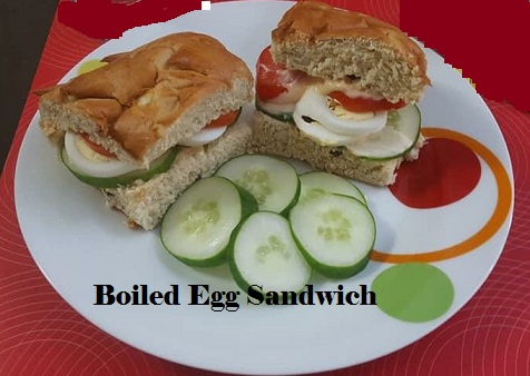 Hard boiled egg sandwich