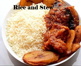 beef stew and rice