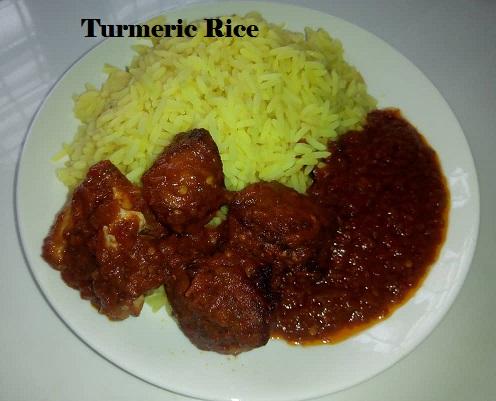 Turmeric rice recipe