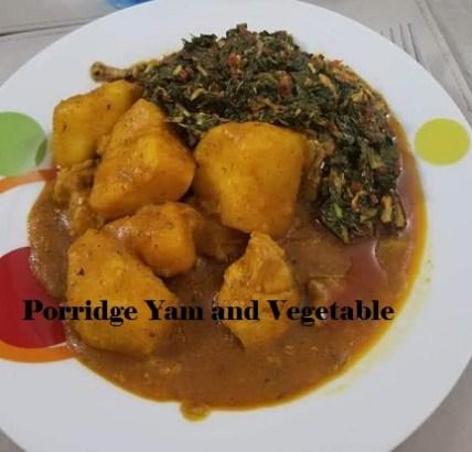 Yam Vegetable