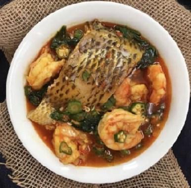 Okra pepper soup