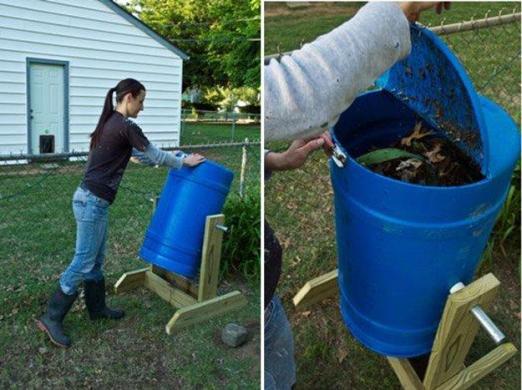 DIY rotating compost bin