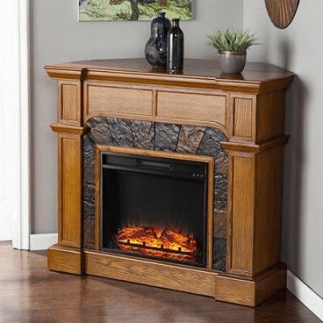 Wall mounted Electric Fireplace with Mantel Surround - Best Home Gear