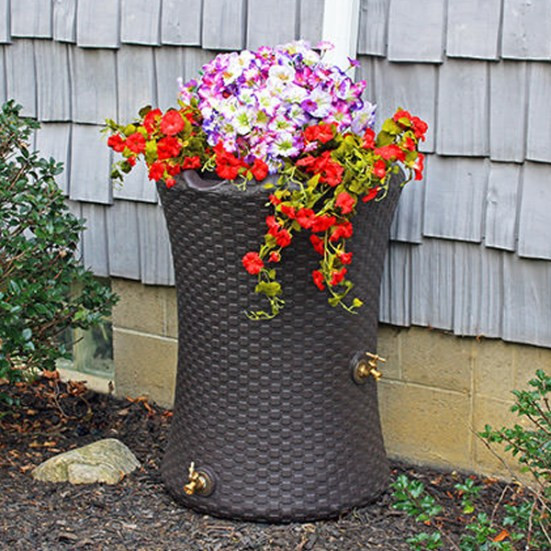 Rain Barrel Planter