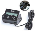 Motorcycle Digital LCD Tachometer Induction Counter Tach Hour Meter Gas Engine
