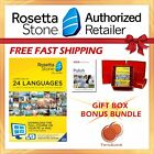 NEW Rosetta Stone FULL COURSE LIFETIME DOWNLOAD POLISH DICTIONARY GIFT BUNDLE