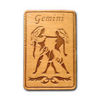GEMINI Zodiac Sign Natural Wood Fridge Magnet Made in USA WM058