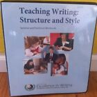 IEW Institute For Excellence Writing Teaching Writing Structure Style Workbook