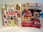 How to Knitting LOT Learn to Knit in Just One Day AND I Can Knit Homeschooling