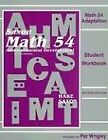 MATH 54 ADAPTATION SAXON MATH 5 4 STUDENT WORKBOOK Excellent Condition