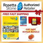 NEW Rosetta Stone FULL COURSE LIFETIME DOWNLOAD SWEDISH DICTIONARY GIFT BUNDLE