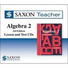The Saxon Teacher for Algebra 2 Third Edition on CD ROM