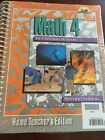 Bob Jones Math 4 Teachers Edition 2nd Edition New and Sealed