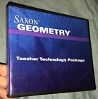 Saxon Algebra Geometry Teacher Technology Package CD Rom Set
