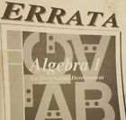 Errata for Algebra I An Incremental Development Saxon Second Edition