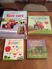 Usborne Hardcover Books Lot OfF 4 includes Wind Up Race Cars With 3 Tracks +