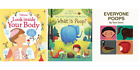 Lot of 3 Usborne Educational Potty Training Books What is Poop Everyone Poops