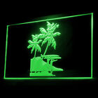 230055 Tropical Surf Station Soft Racks Navigation Natural Beach LED Light Sign