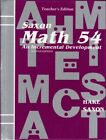 Saxon Math 54 2nd Edition TeacherS Edition