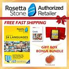 NEW Rosetta Stone FULL COURSE LIFETIME DOWNLOAD GREEK DICTIONARY GIFT BUNDLE