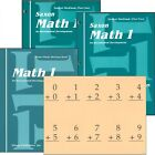 Saxon Math Grade 1 Student Workbooks Fact Cards and Meeting Book NEW