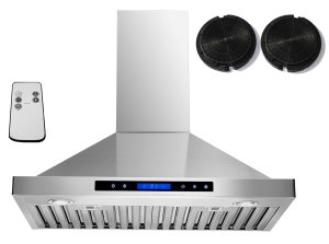 """AKDY 30"""" Convertible Wall Mount Stainless Steel Ductless/Ventless Range Hood with Remote"""
