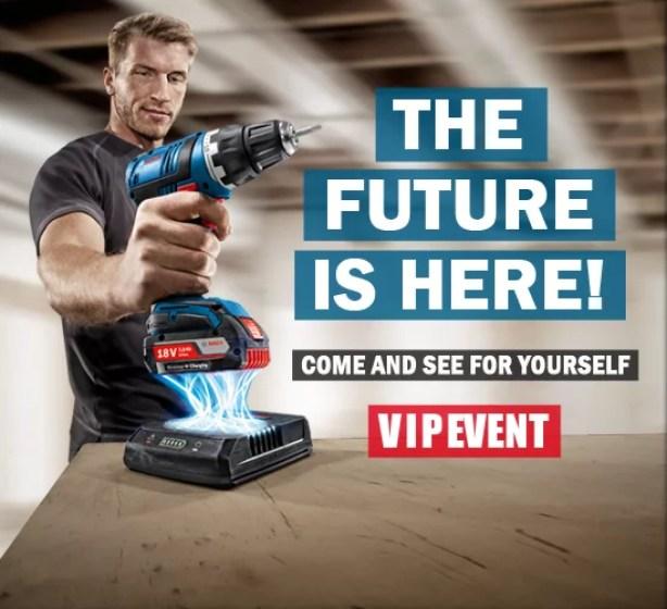 New Bosch 18V Wireless Battery Charging