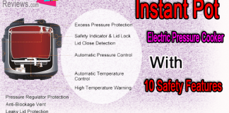 Instant Pot Electric Pressure Cooker With 10 Safety Features