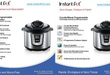 Instant Pot IP-CSG Series Specifications
