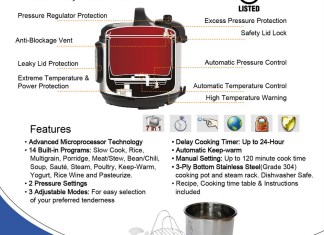 Specifications and Manuals Of Instant Pot Pressure Cooker