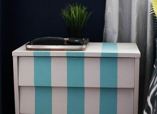 Striped Nightstand Ikea