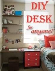 DIY Desk Nightstand